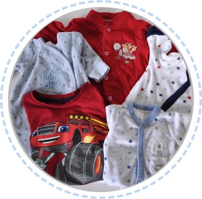 Kleidung vorher Erinnerungskissen Babykleidung