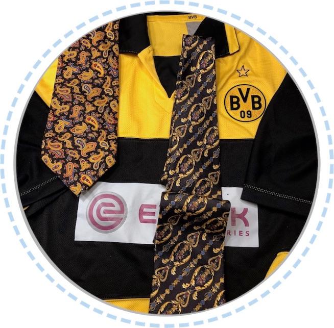 Kleidung Erinnerungskissen BVB schwarz-gelb vorher