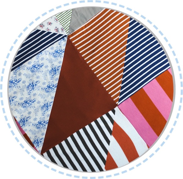 Patchworkdecke bunt Details Muster 600px