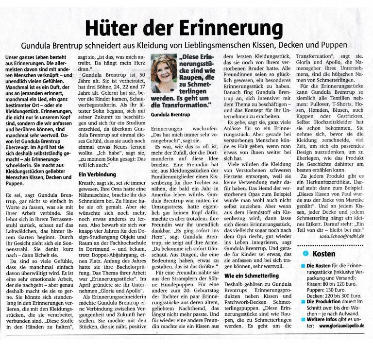 Ruhrnachrichten Zeitungsartikel