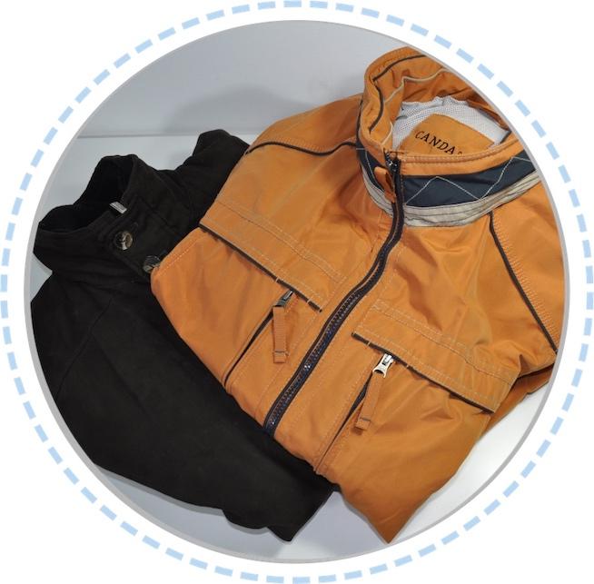 Kleidung vorher Erinnerungskissen braun orange