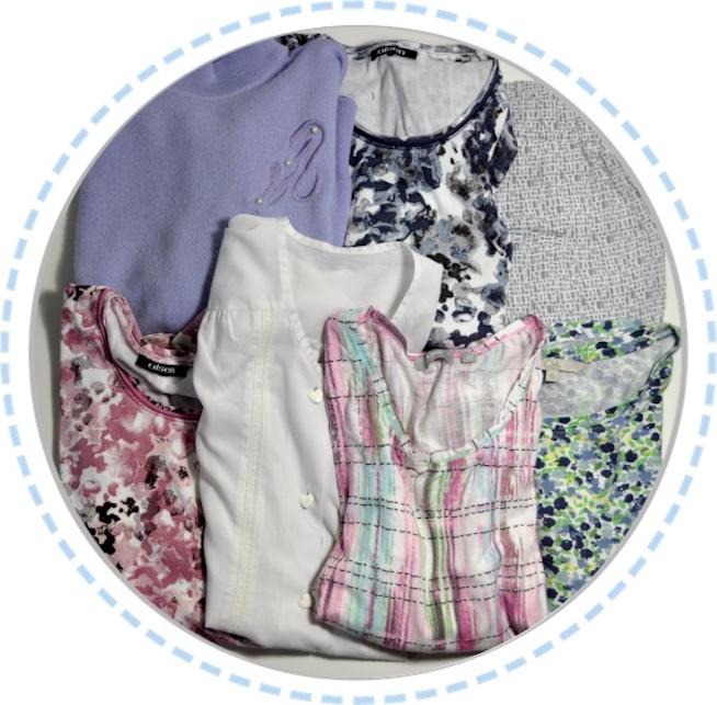 Kleidung vorher Erinnerungskissen lila rosa