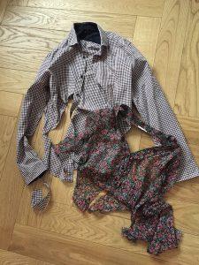 Kleidung vorher Kinder Erinnerungskissen Muttergtag