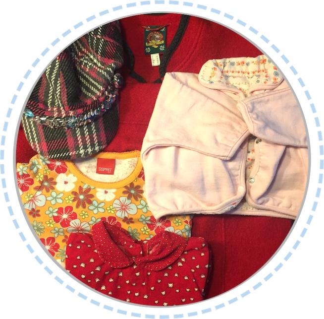 Kleidung vorher Schmetterlingspuppe gelb rot