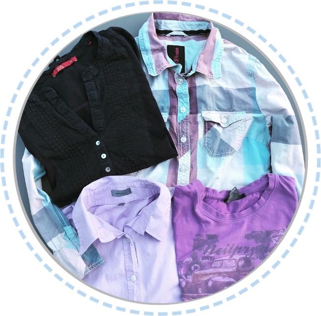 Kleidung vorher Schmetterlingspuppe dunkel lila