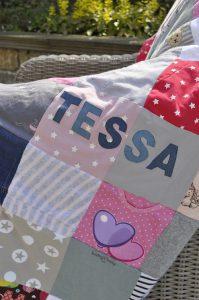 Patchworkdecke Tessa Babyerinnerung Details