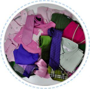 Kleidung vorher Patchworkdecke pink grün