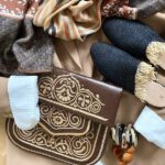 Berber Bag und Raffia Schuhe