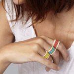 Ring aus Glasperlen