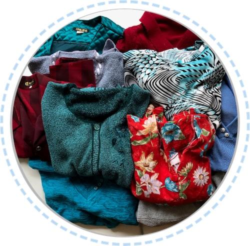 Kleidung Patchworkdecke Erinnerungen Oma